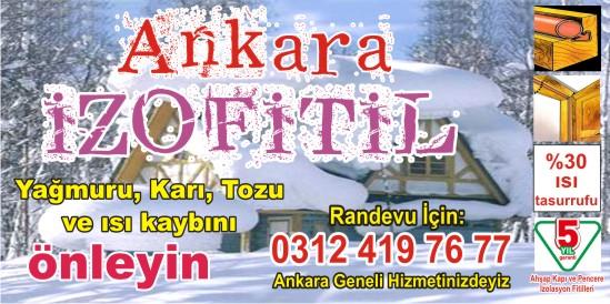 Ankara Pencere Filiti İzofitil Yapımı