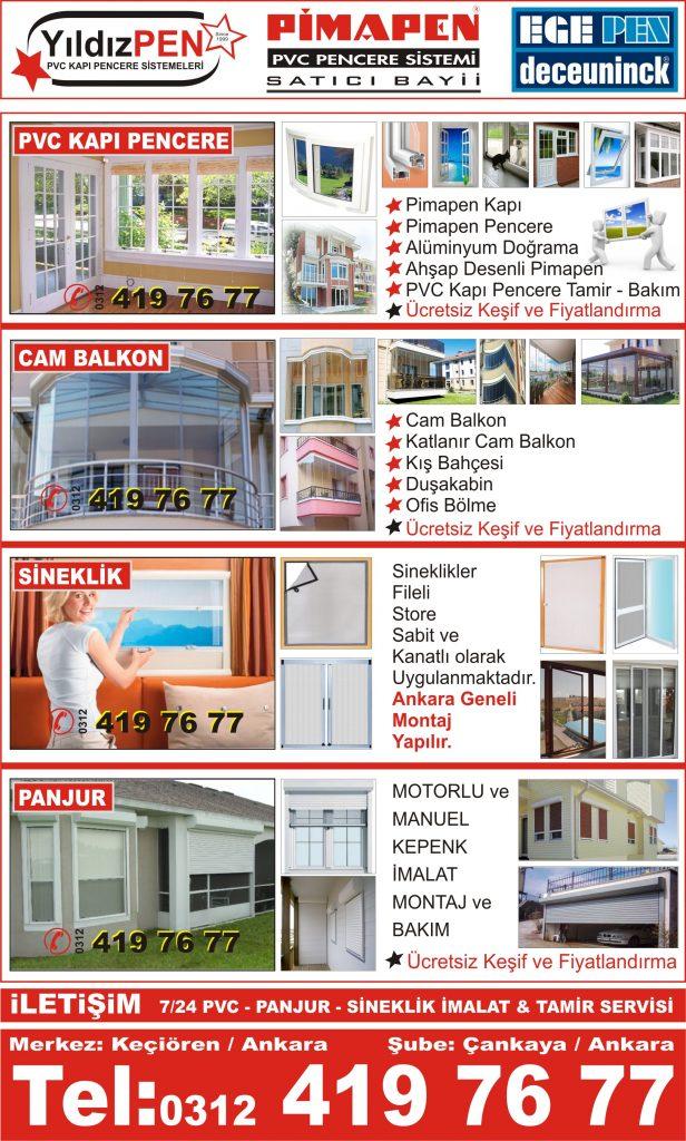Keçiören Cam Balkon Firmaları Fiyatları